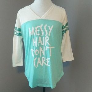 Rue 21 - Messy Hair Don't Care 3/4 Sleeve